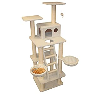 72 Bungalow Sherpa Cat Tree In Off White