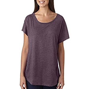 Next Level Tri-Blend Dolman - Vintage Purple 6760 XL