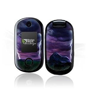 Design Skins für Motorola U9 - Purple Lightning Design Folie [Elektronik]