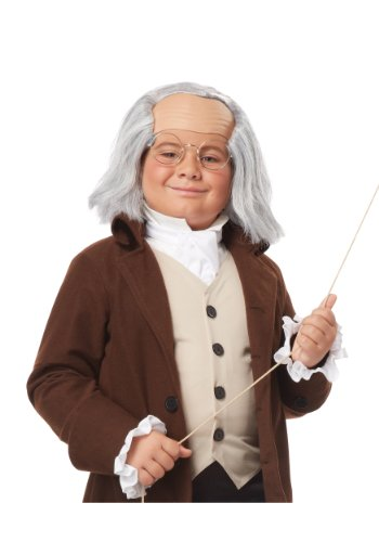 California Costumes Benjamin Franklin Wig