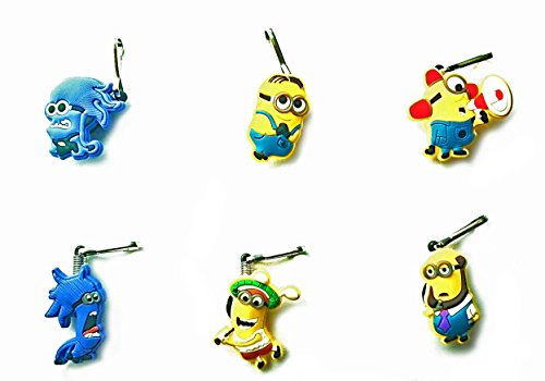 AVIRGO 6 pcs Zipper Pull Charms for Jacket Backpack Bag Pendant Set # 32-2
