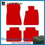 Premier Products luxury quality mats in red to fit Lexus Gs300 (2005-) with 6 Eyelets clips in carpet and Matching trim around edge of carpet
