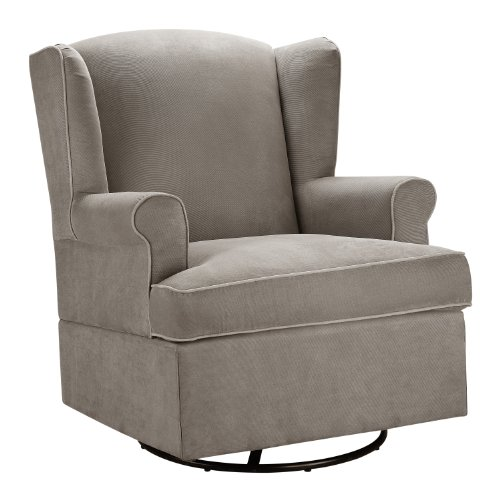 Dorel Asia Swivel Glider, Dark Taupe - 1
