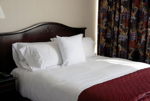 Deluxe King Flat Bed Sheet 100% Cotton - White front-666968