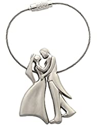 Romantic Couple Metal Wire Ring Key Chain By KartString