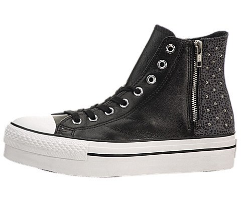 Converse Chuck Taylor Zip High - Black / Charcoal, 6 B Us