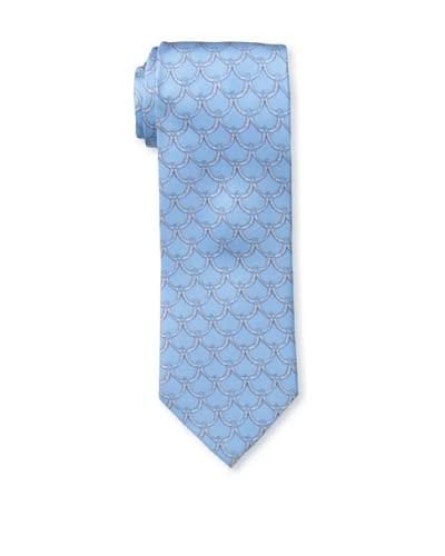 J.McLaughlin Men's Country Swag Print Tie, Light Blue/Grey