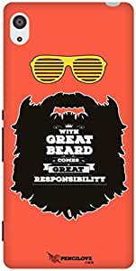 The Racoon Grip Respect thy Beard hard plastic printed back case / cover for Sony Xperia Z2