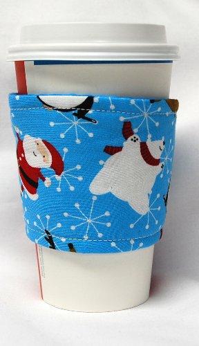 カップスリーブ コーヒースリーブ Coffee Cozy Cup Sleeve クリスマス ダンシングサンタ