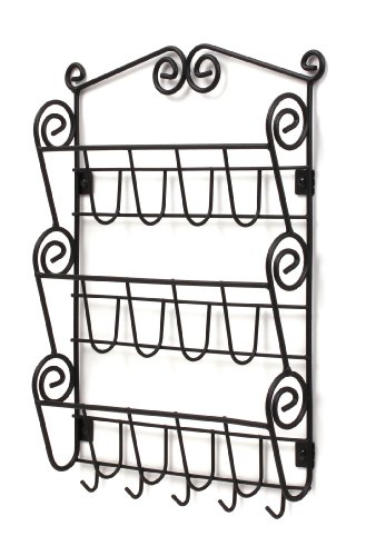 Spectrum Diversified Scroll Mail Organizer, Wall Mount, Black (Bill Wall Organizer compare prices)