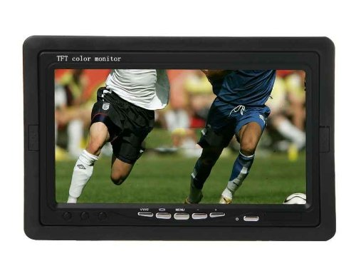 "7 "" Digital Screen Lcd Tft Led Car Monitor With Remote Control (Black)"