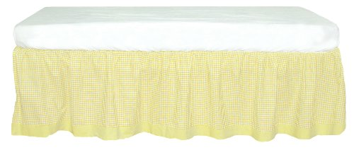 Tadpoles Classic Gingham Crib Skirt - Yellow
