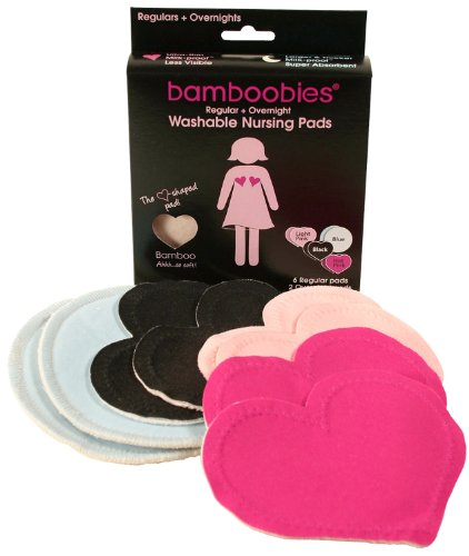 Bamboobies Super Soft Washable Nursing Pads - Multi-colored