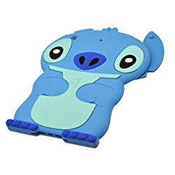 Smart Dog Stitch Silicone Case for iPad Mini - Blue