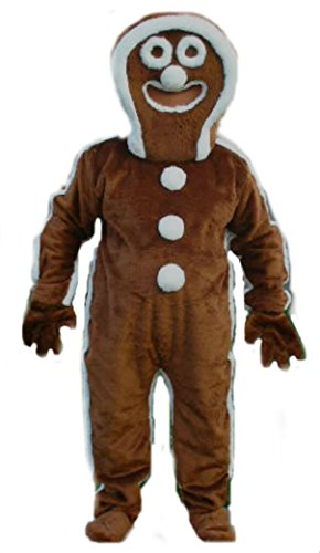 Mascots USA by CJs Huggables Custom Pro Low Cost Gingerbread Man Mascot Costume