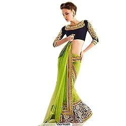 khazanakart Exclusive Lehenga Green Colour Rasal Net Lenga For Women