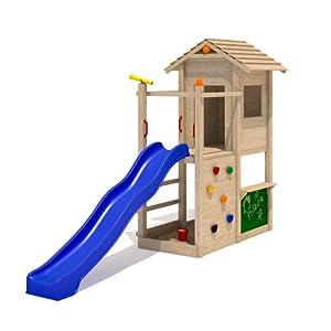 isidor picodo spielturm kletterturm rutsche 2 schaukeln kletterwand baumhaus ohne schaukelanbau. Black Bedroom Furniture Sets. Home Design Ideas