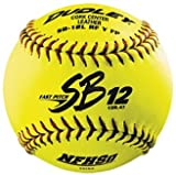 Dudley SB12LRFY-FP-NFHS 12 inch 47/375 NFHS Leather Cover Softball (Sold in Dozens)