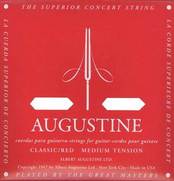 AUGUSTINE RED SET × 2 set Augustine klassische Gitarre-Saiten rot