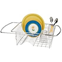 Better Houseware Adjustable Stainless Steel Over the Sink Dish Drainer Rack