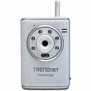 TRENDnet SecurView Wireless Day/Night Internet Surveillance Camera Server with 2-Way Audio TV-IP312W (Silver)