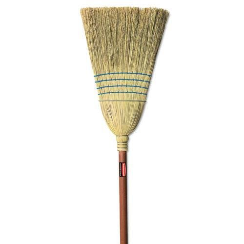 RUBBERMAID COMMERCIAL PROD. Warehouse Corn-Fill Broom, 38-in Handle, Blue (6383) lole капри lsw1349 lively capris xs blue corn