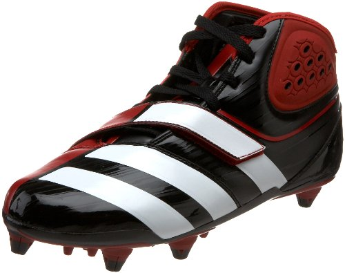adidas Men's Malice D Football Cleat,Black/White/University Red,16 M US