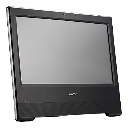 """Shuttle X504 Ordinateur de bureau Tout-en-Un Tactile 15,6"""" (39,6 cm) Noir (Intel Celeron, 4 Go de RAM, 60 Go, Intel HD Graphics)"""