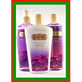 VICTORIA'S SECRET GARDEN COLLECTION FANTASY GIFT SET~LOVE SPELL FRAGRANCE MIST BODY LOTION AND BODY WASH 8.4 OZ...