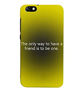 Fuson 3D Printed Quotes Designer back case cover for Huawei Honor 4X - D4542