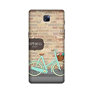OnePlus 3 / Oneplus Three Designer Printed Covers (OnePlus 3 / Oneplus Three Back Cover) - Happiness Bicycle