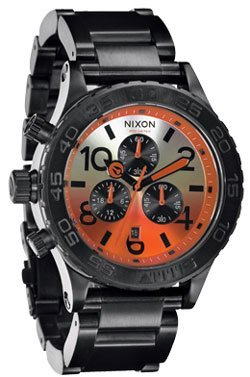 Nixon 42-20 Chrono Watch All Black / Sunrise, One Size
