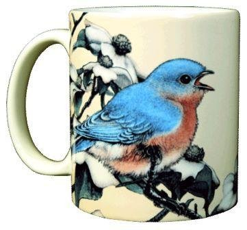 Bluebird 11 Oz. Ceramic Coffee Mug or Tea Cup