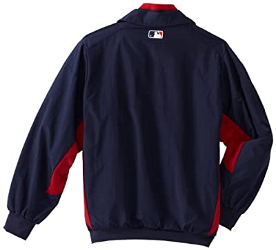 MLB Majestic Cleveland Indians Youth Triple Peak Premier Performance Full Zip Jacket - Navy Blue
