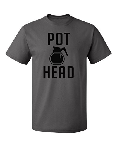 PB-Coffee-Pot-Head-Mens-T-shirt-M-Charcoal