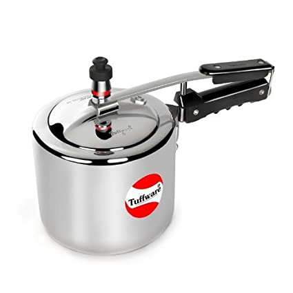 Tuffware-AL5IN-Regular-Aluminium-5-L-Pressure-Cooker-(Inner-Lid)