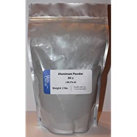Aluminum Powder - 30 micron - 2 Pounds