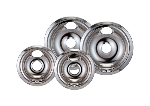 Stanco 4 Pack Ge/Hotpoint Electric Range Chrome Reflector Bowls With Locking Notch (Stove Burner Electric compare prices)