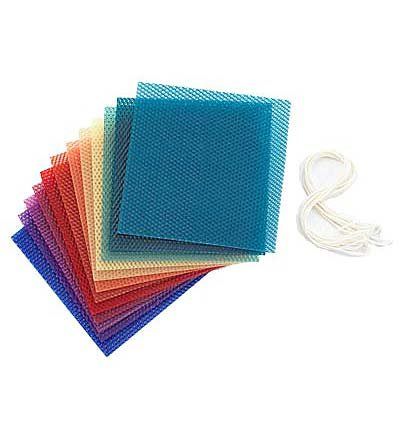 Beeswax Candle Rolling Kit with Decorating Ideas, in Bright Colors (Sheets Of Beeswax compare prices)