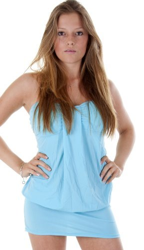 erdbeerloft - Superminikleid Bandeau Dress Top, Größe one size, hellblau
