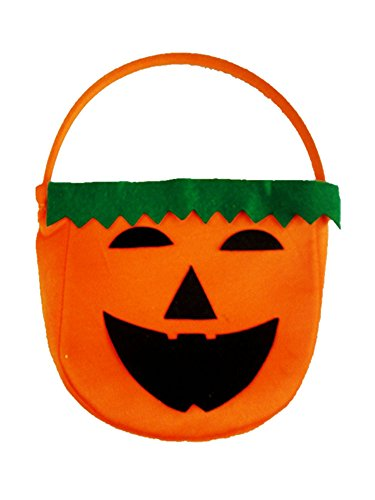 Keral Fancy Pumpkin Bucket Pot Candy Holder Halloween Decorations Props