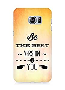 Amez Be the Best version of Yourself Back Cover For Samsung Galaxy S6 Edge Plus