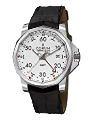 Corum Men's 38333020/0F81AA Admirals Cup GMT 44 White Dial Watch