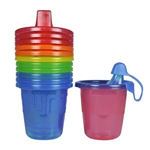 The First Years 6 Count Take & Toss Spill Proof Cups, 7 Ounce, Bonus Drip-Free Cap