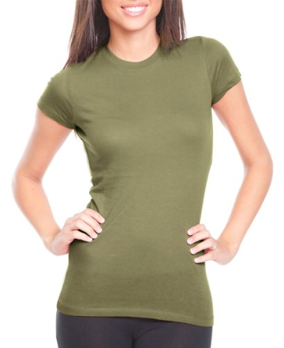 Next Level Perfect Vintage Jersey T-Shirt, Light Olive, Small (Pack3)