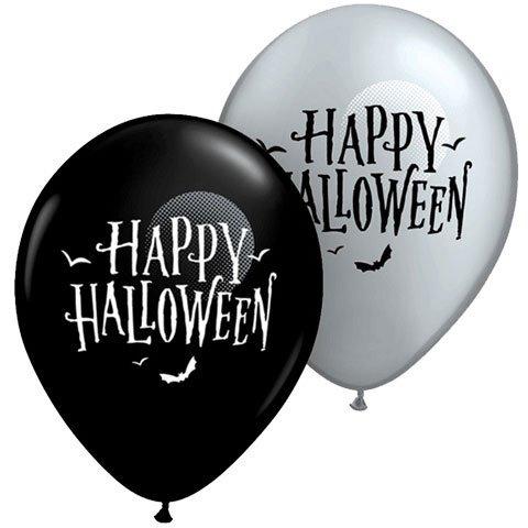 """11"""" Halloween Moon & Bats"""