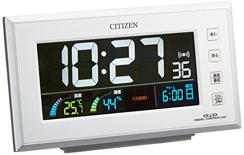 CITIZEN(シチズン) 電波目覚まし時計 パルデジットネオン ホワイト 8RZ121-003