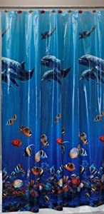 Realistic Fish Vinyl Shower Curtain