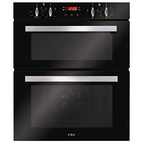 CDA DC740BL 60cm Built Under Double Electric Oven in Black