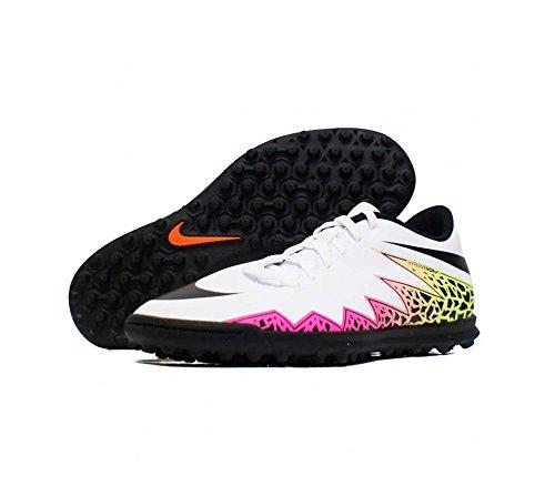 Nike Hypervenom Phade Ii Tf Scarpe da Calcio Allenamento, Uomo, Multicolore (White/Black/Total Orange/Volt), 41